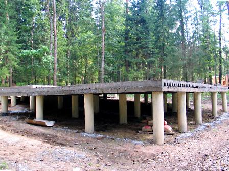 сооружение свайно-ленточного фундамента